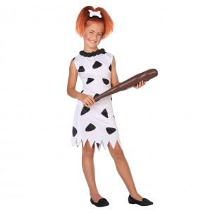 Disfraz de Cavernícola Picapiedra Blanco para niña