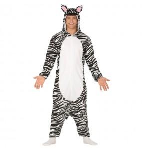 Disfraz de Cebra kigurumi para adulto