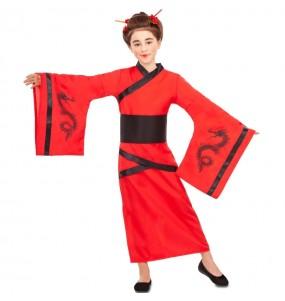 Disfraz de China Dragón Rojo para niña