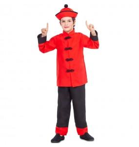 Disfraz de Chino Dragón Rojo para niño
