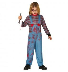 Disfraz de Chucky el muñeco sangriento para niño