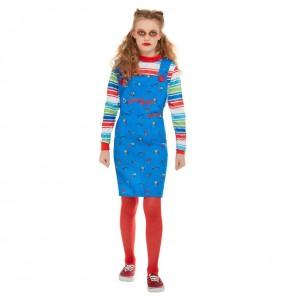 Disfraz de Chucky para niña