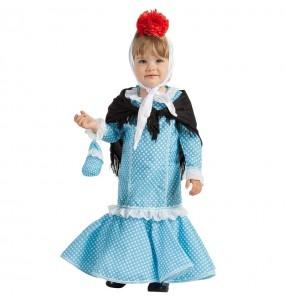 Disfraz de Chulapa azul para bebé