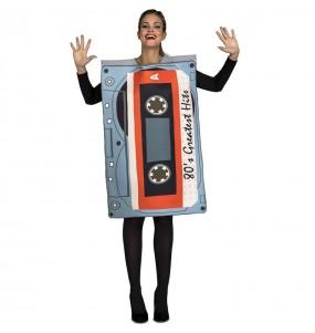Disfraz de Cassette años 80 adulto
