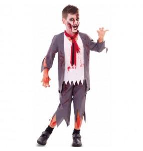 Disfraz de Colegial Zombi Sangriento para niño