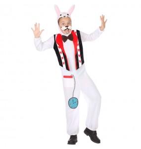 Disfraz de Conejo Blanco de Alicia para niño