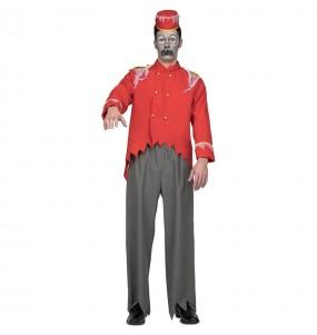 Disfraz de Conserje Zombie para hombre