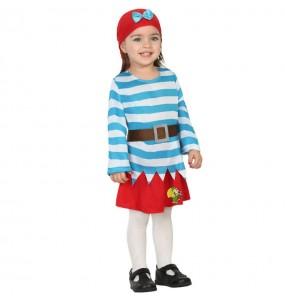 Disfraz de Corsaria Pirata para bebé