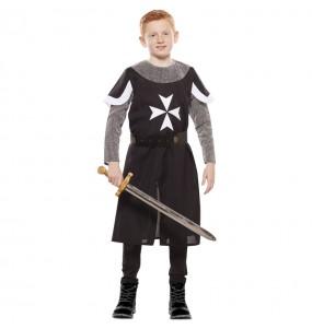 Disfraz de Cruzado Medieval Negro para niño