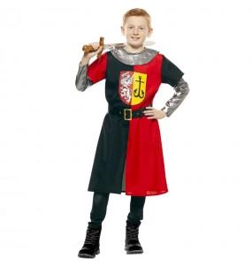 Disfraz de Cruzado Medieval Rojo para niño