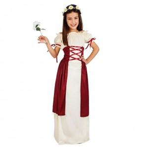 Disfraz de Dama Medieval Gadea para niña