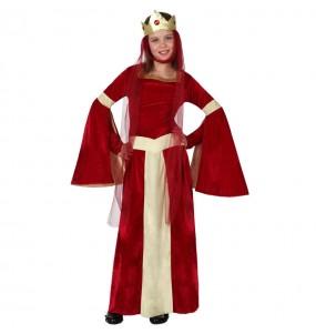 Disfraz de Dama Medieval Roja infantil