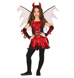 Disfraz de Demonia con alas para niña
