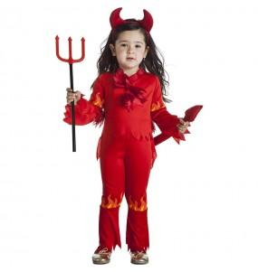 Disfraz de Demonia llamas para niña