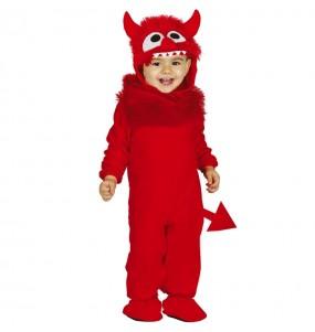 Disfraz de Demonio con cola para bebé