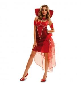 Disfraz de Diablesa Deluxe para mujer
