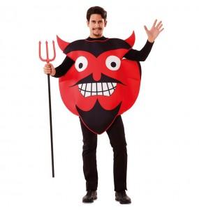 Disfraz de Diablo Emoticono para adulto