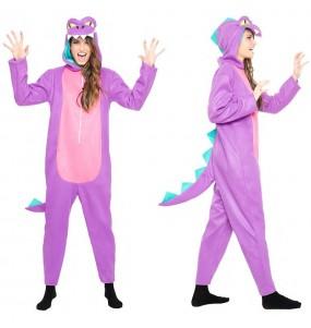 Disfraz de Dinosaurio Morado para mujer