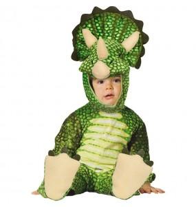 Disfraz de Dinosaurio Triceraptors para bebé