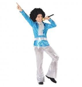 Disfraz de Disco Azul para niño