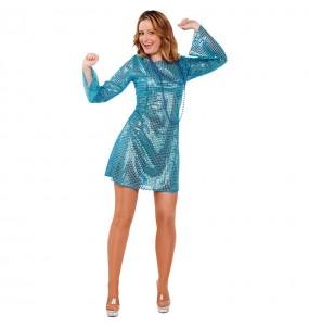 Disfraz de Disco Boogie Tonight Azul
