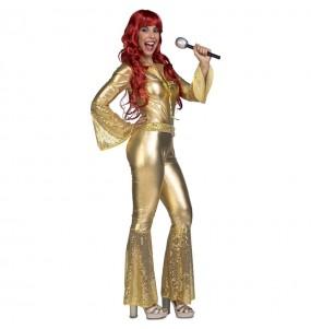 Disfraz de Disco Dancing Oro para mujer