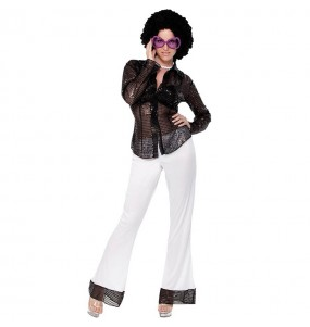 Disfraz de Disco Lentejuelas mujer barato