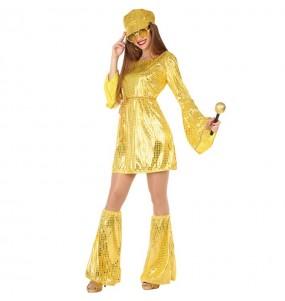 Disfraz de Disco Oro para mujer