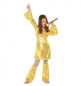 Disfraz de Disco Oro para niña