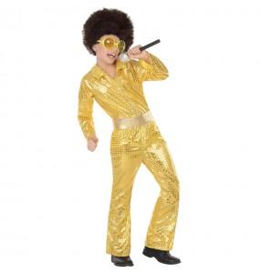 Disfraz de Disco Oro para niño