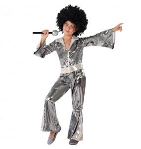 Disfraz de Disco Plateado para niña
