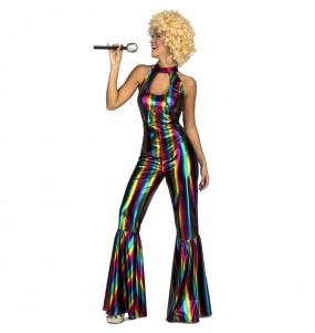Disfraz de Disco Rainbow para mujer