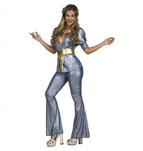 Disfraz de Disco Silver para mujer