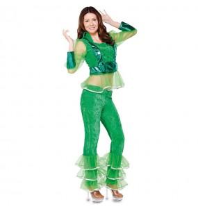 Disfraz de Disco Verde para mujer
