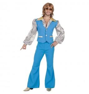 Disfraz de Discotequero Azul para hombre