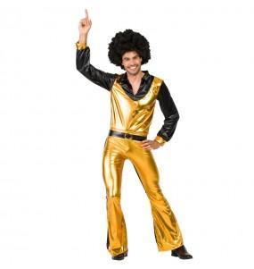 Disfraz de Discotequero Dorado para hombre