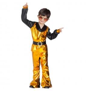 Disfraz de Discotequero Dorado para niño