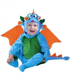 Disfraz de Dragón azul para bebé
