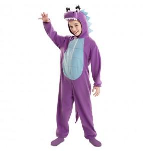 Disfraz de Dragón Morado para niña