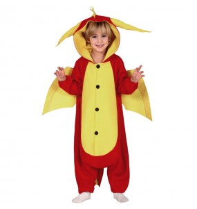 Disfraz de Dragón Rojo Kigurumi para niño