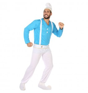 Disfraz de Duende azul adulto