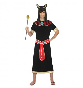 Disfraz de Egipcio Negro Anubis para hombre
