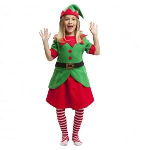 Disfraz de Elfa ayudante Papá Noel para niña