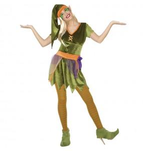 Disfraz de Elfa del bosque para mujer