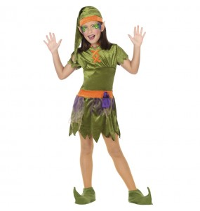 Disfraz de Elfa del bosque para niña