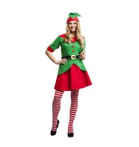 Disfraz de Elfa Navidad Adulto