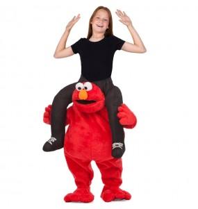 Disfraz de Elmo a hombros Barrio Sésamo para niños