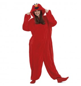 Disfraz de Elmo Barrio Sésamo Kigurumi para adulto