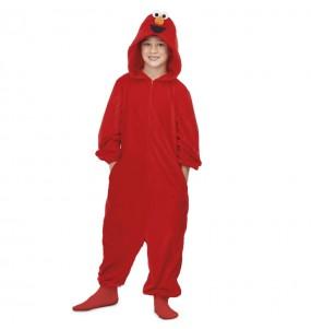 Disfraz de Elmo Barrio Sésamo Kigurumi para niño
