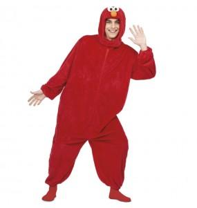 Disfraz de Elmo Barrio Sésamo para adulto
